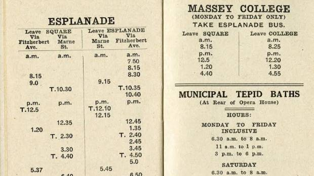 Daily hours and charges for the Municipal Baths, 1947