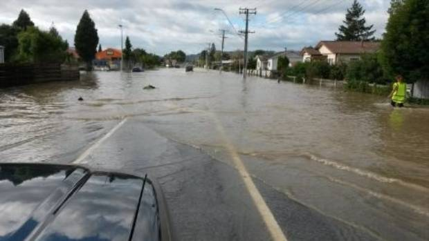 Residents of the Bay of Plenty town of Edgecumbe were evacuated after the Rangitaiki River breached its banks in a ...
