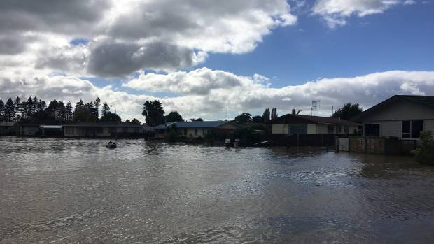 The Rangitaiki River has breached its stopbank.
