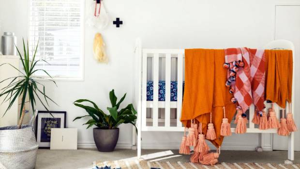 Abby loves layering, colour and texture as seen here in Huey and Goldie's room.
