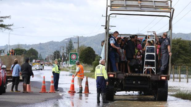 Around 2000 people were ordered to evacuate after the river breached its stopbanks.