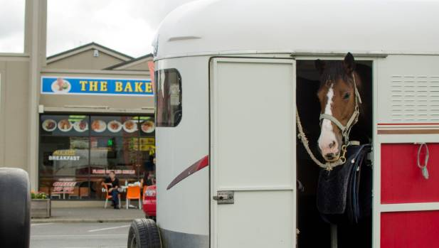 It's not unusual to see horse floats and boats parked down the side of the town's main street.