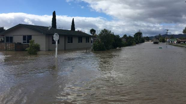 Insurance representatives travelled to flooded Edgecumbe on Thursday.
