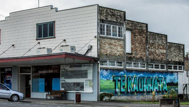 Every few years the Te Kauwhata mural gets repainted by local school kids.