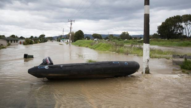 The roads have become rivers in Edgecumbe.