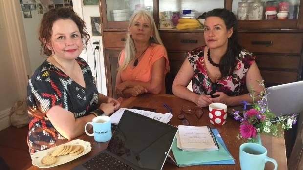 Backbone Collective co-founders, from left, Tania Domett, Ruth Herbert and Deborah Mackenzie.