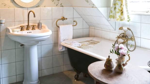 The upstairs bathroom has been reconfigured from Chapman-Taylor's original design.