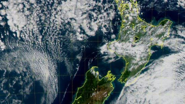 New Zealand on Friday in a satellite image.
