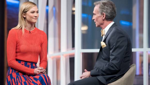 "Fashion model Karlie Kloss is one of five ""special correspondents"" on Bill Nye Saves the World."