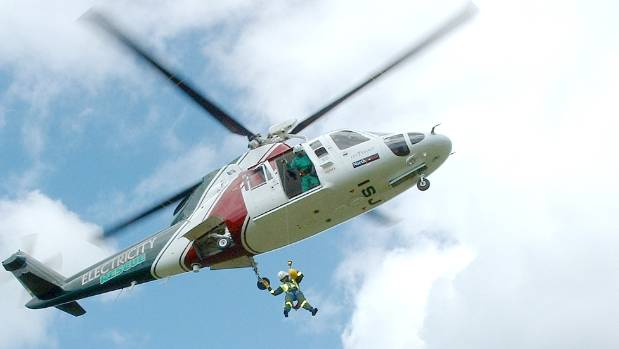 Electricity Rescue Helicopter in action.