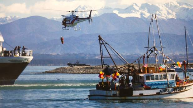Nelson Marlborough Rescue Helicopter in action.