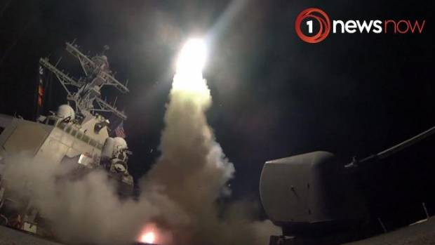 Watch: Fire, flames and smoke as US missile launches attack on Syria