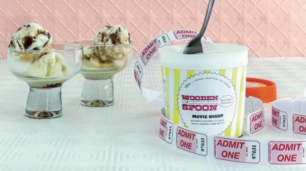 Wooden Spoon Boutique Freezery's Movie Night ice cream.