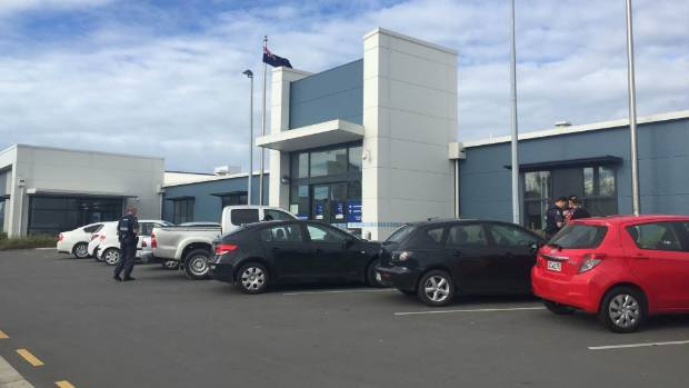 Christchurch's temporary police station in St Asaph St has been mooted as the possible site for a car park building to ...