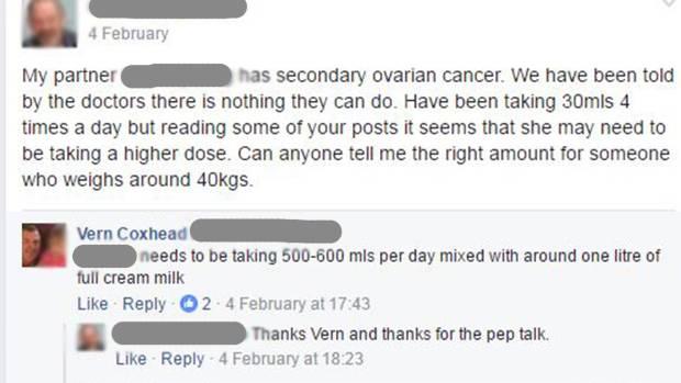 A screen grab from the Te Kiri Gold Facebook group.