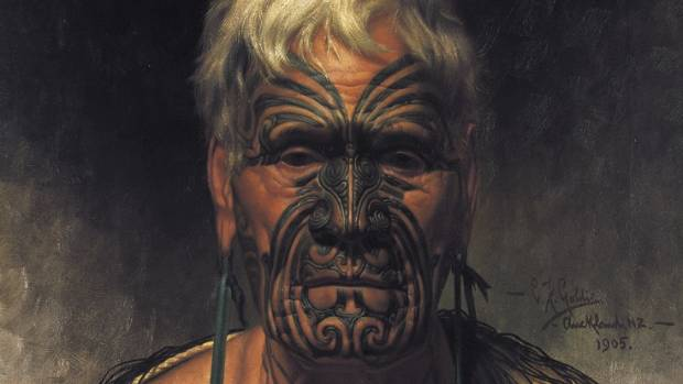 Another notable and early Goldie work: Te Aho, A Noted Waikato Warrior, dated 1905.