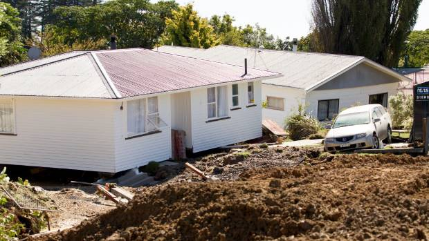 The houses in the immediate path of the water have been shifted metres off their piles.