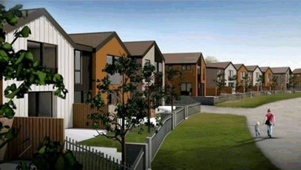 An artist's impression of the proposed housing development.