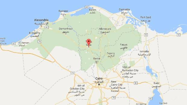 A church in Tanta, north of Cairo, has been struck by a bomb.