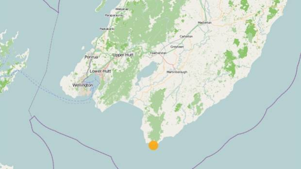 More than 2500 people reported feeling the magnitude-4.8 tremor near  Martinborough (pictured)