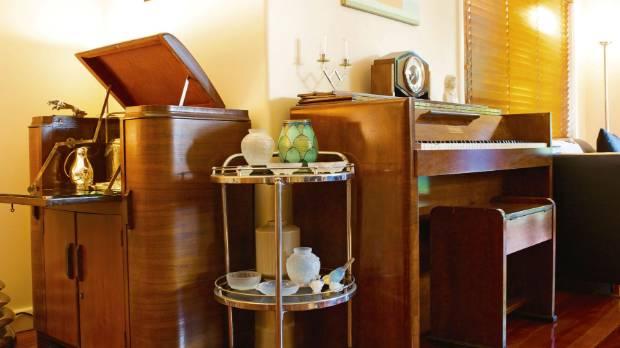 The 1940s walnut veneer piano, by Viennese maker Karl Hofmann, was bought from a St Vincent de Paul sthop in Wellington ...