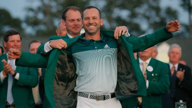 Sergio Garcia celebrates Masters victory he thought would never come