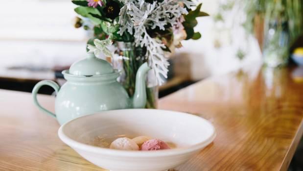 A bowl of Farmilo's famous Duck Island icecream.