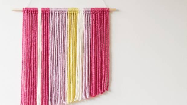 Thick wool and wooden dowel rod can be found at Spotlight, spotlight.co.nz.