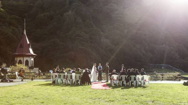Guests were treated to a beautiful day at Zealandia for the ceremony.
