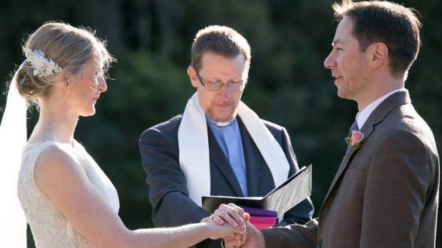 The ceremony was officiated by an old school friend's husband.