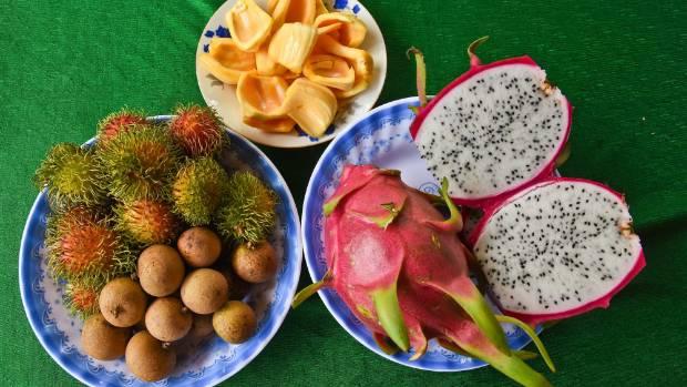 A delta fruit platter.
