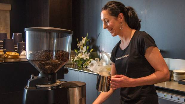 Coffee Traders owner Vanessa Clements in her cafe's new home at 123 Victoria St.