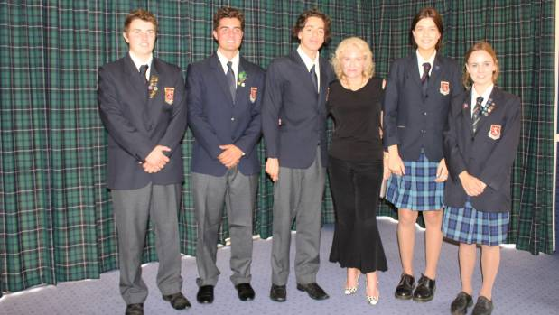 Diana Harrington was invited to speak at St Peter's School by students Cam Baldwin, Sean Chenery, Luke Rice, Steffanie ...