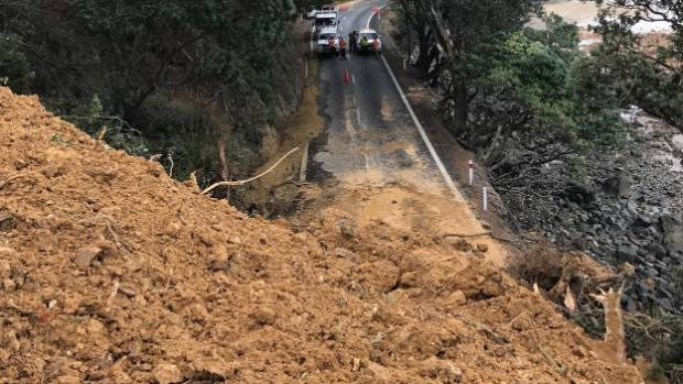 The Thames-Coast road was closed for about a week after a large slip at Ruamahanga Bay in April.