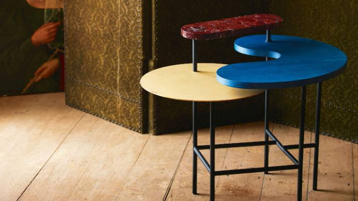 Opposites Attract Modern Side Tables Matched With