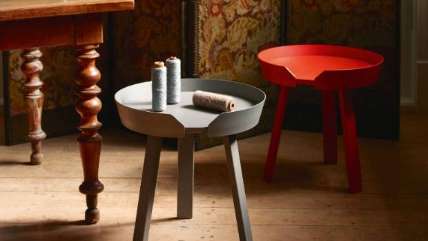 Opposites Attract Modern Side Tables Matched With Antiques Stuff