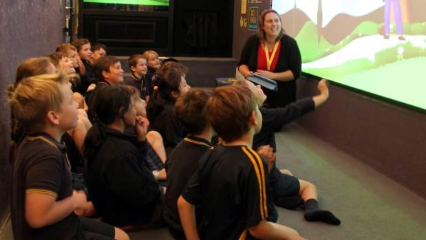 Life Education Trust Southland educator Teresa Wallace teaches Waihopai School year three pupils from room 15