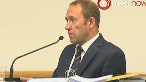 Andrew Little on the stand in the Wellington High Court