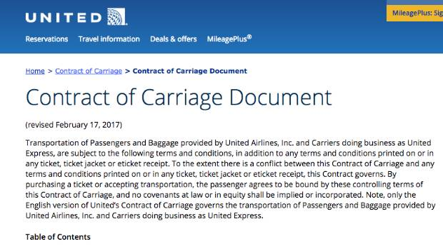 Based on United Airlines' Contract of Carriage passengers with disabilities and unaccompanied minors are the least ...