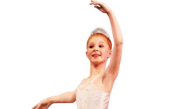 Alana Haines as the Pearl Princess (and first solo on pointe) taken during her mother's Christmas production of Ali ...