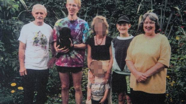 Robin, David, Stephen and Margaret Bain in what is believed to be one of the last family photos before the killings.