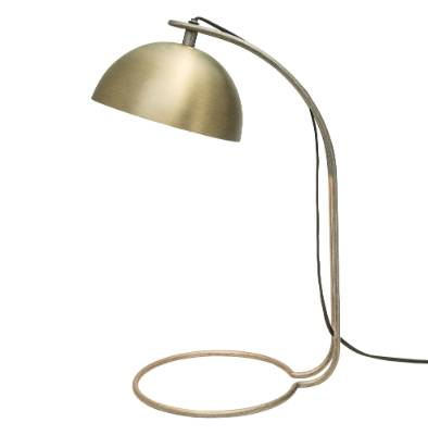 Freedom Furniture Mael table lamp in brass, $159.
