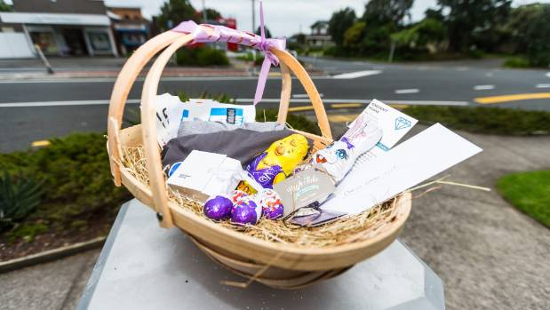 Early easter suprise in store for one lucky hunter stuff the main prize awaits easter hunters in oakura on wednesday negle Image collections