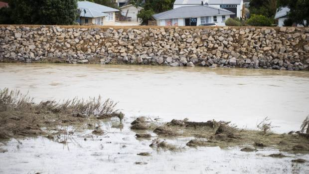 Will the new stopbank hold? Officials remain hopeful in the face of further potential floods in Edgecumbe.