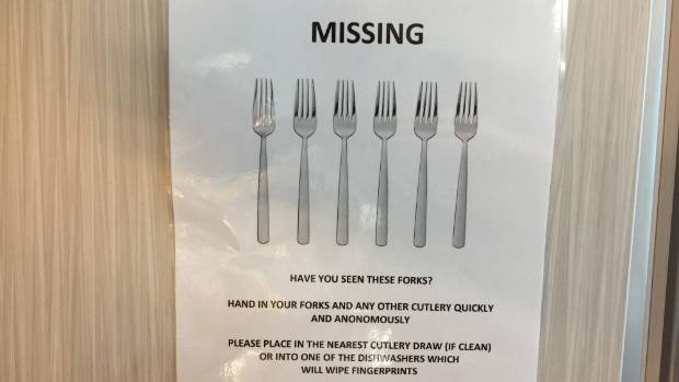 Fairfax has repeatedly encouraged staff to return forks that have gone walkabout from the newsroom.