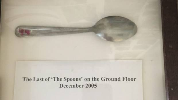 Only one teaspoon is left from an academic study at the Burnet Institute -it has been framed on the wall.