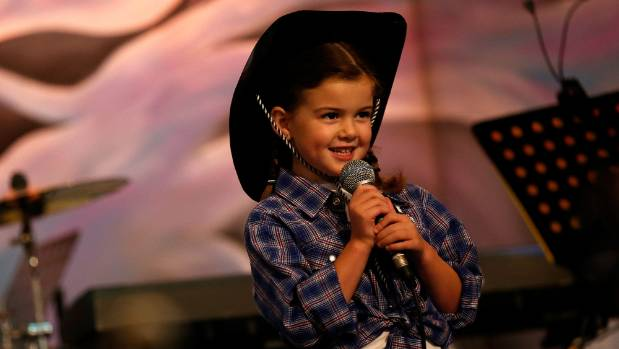 MacKenzie Donaldson competing in the Southern Alps Country Music Awards in 2015. The competition takes place at Caroline ...