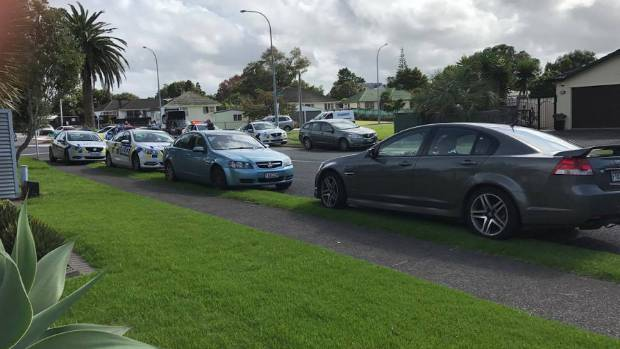 There was a heavy police presence in West Auckland as part of the search for  Turiarangi Tai.
