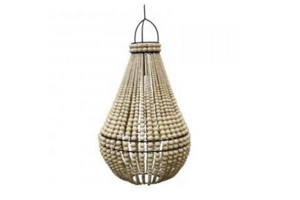 Chandelier in natural, RRP $499 from Flux Boutique.