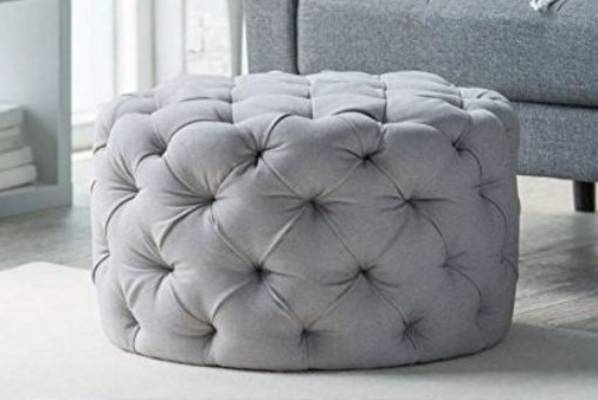 Tufted ottoman, RRP $192 from U Buy.